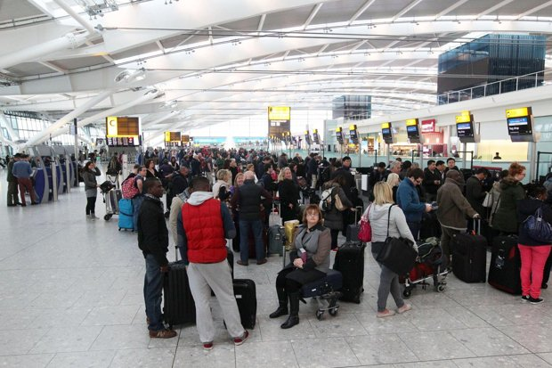 Overstretched British airports among worst in world for delays